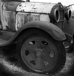 Ford Model A truck, detail, Truxton, AZ