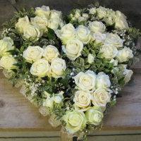 White Rose Heart Frame
