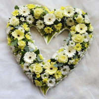 White & Yellow Open Heart