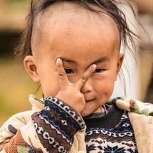 Basha - Toddler giving V Sign