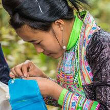 Basha - Girl sewing