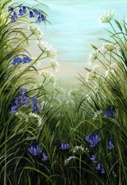 """Bluebell Meadow"" £110 framed"
