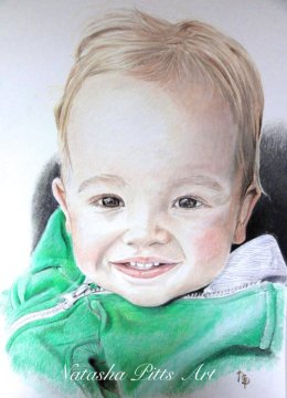 "6""x8"" Coloured Pencil Portrait"