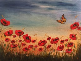 "Field of Hope 14""x18"" Original acrylic painting SOLD Prints Available"