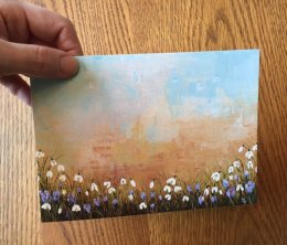 """Spring Blossoms"" Card 175mm x125mm Blank inside £2.50 each"