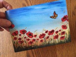 """""""Field of Hope"""" Card 175mmx125mm Blank inside £2.50 Each"""