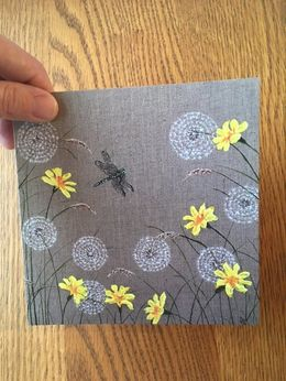 Dragonfly Meadow I Greetings Card (Blank inside) £2.50 148mmx148mm
