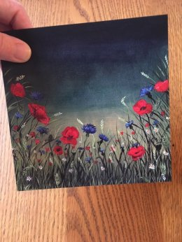 Poppies at Dusk Greetings Card (Blank inside) £2.50 148mmx148mm