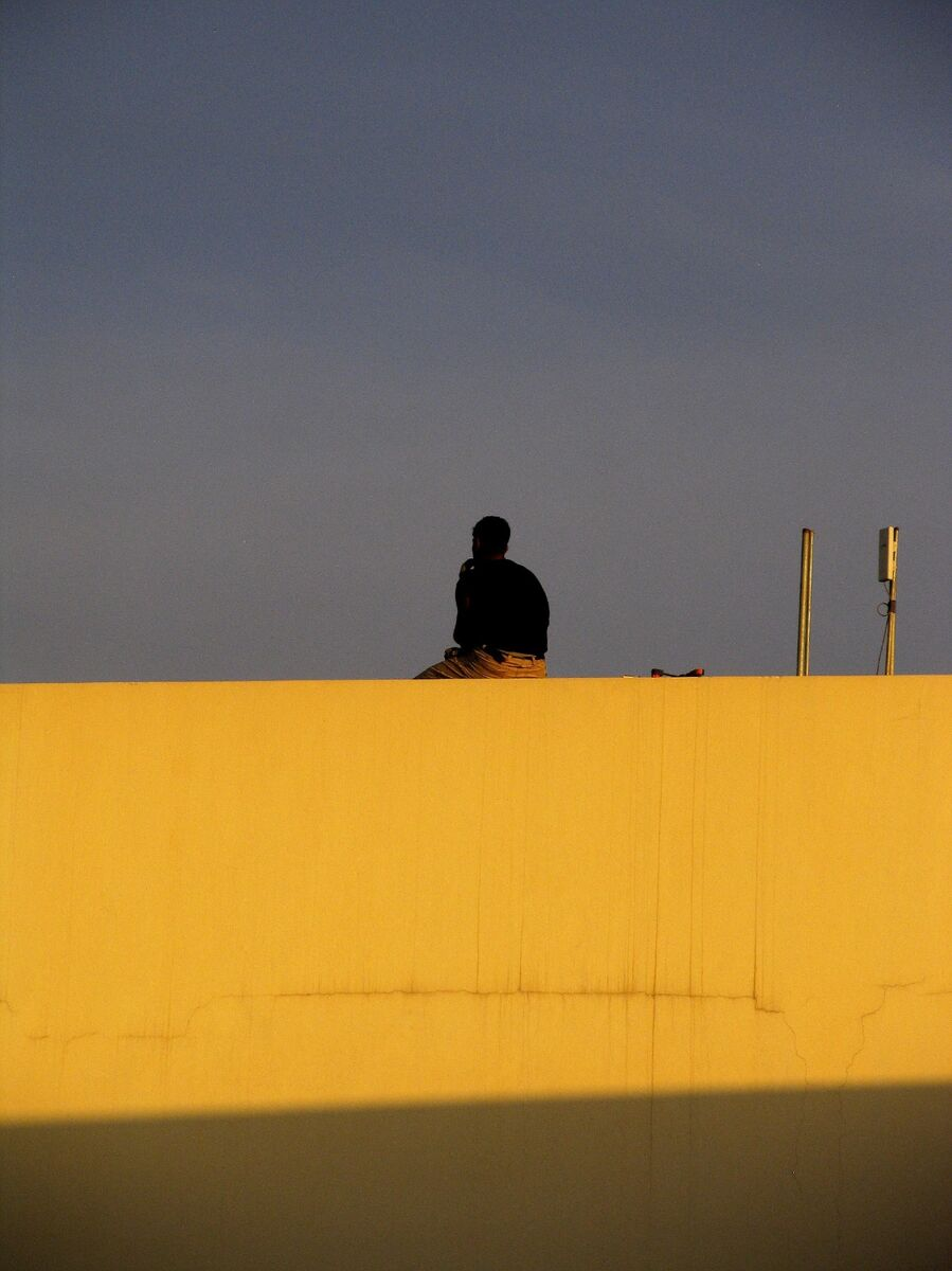 Man on a Wall