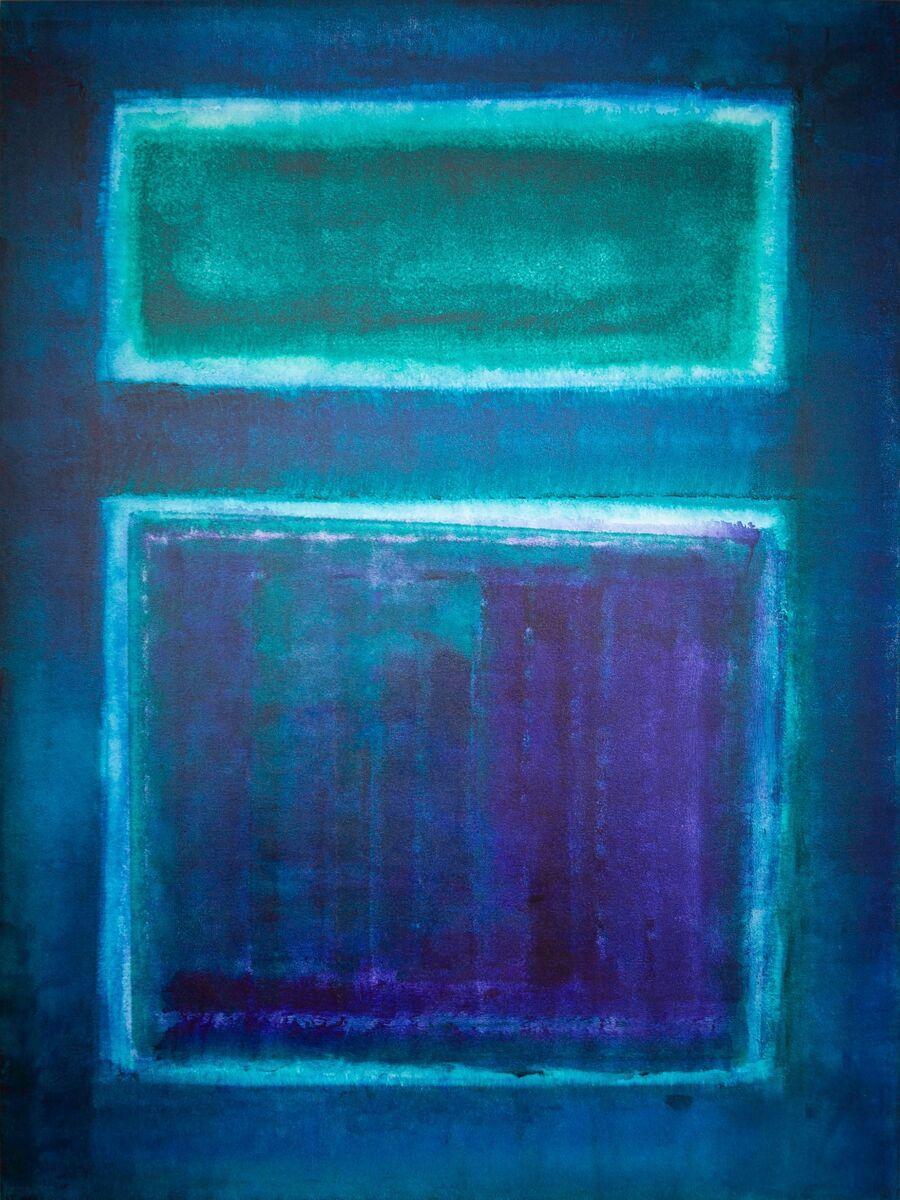 Mauve Blue on Blue 1
