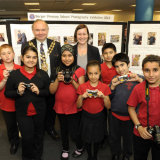 2014 Berger Primary Photo Club Exhibition Launch at Hackney Central Library - with MP Meg Hillier & The Hackney Speaker, Cllr Michael Desmond
