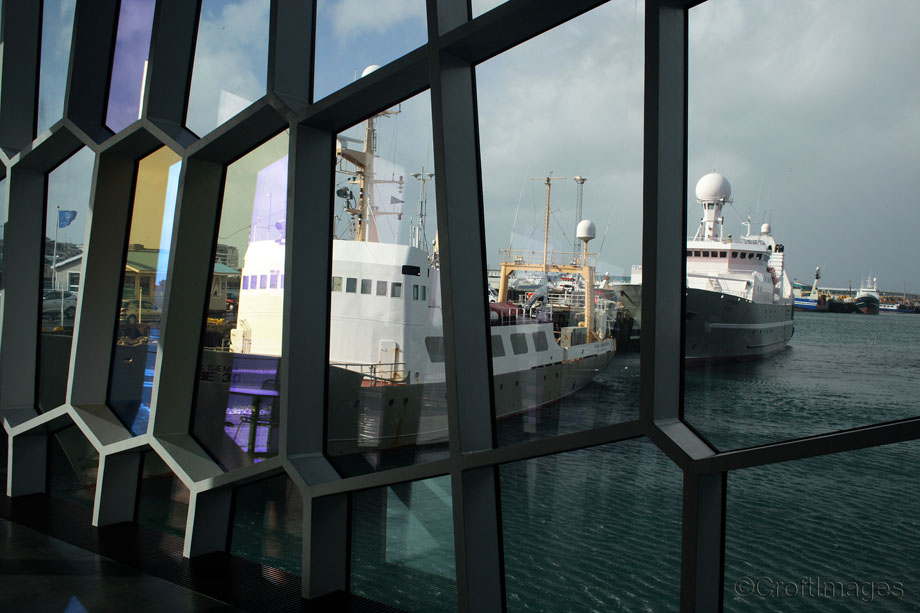 The harbour from The Harpa Concert Hall, Reykjavik.