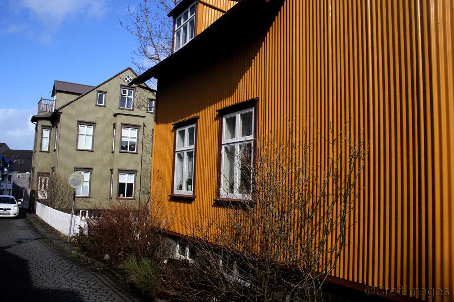 Buildings in Reykjavik.