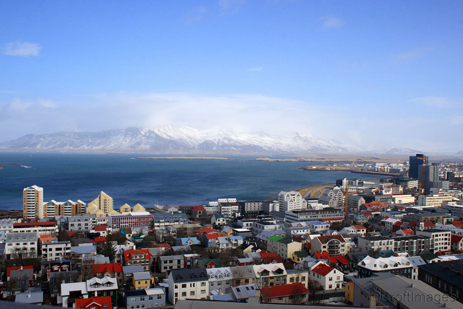 The view from the top of Hallgrimskirkaja Church