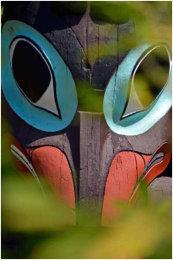 Totem Pole Detail, Stanley Park, Vancouver