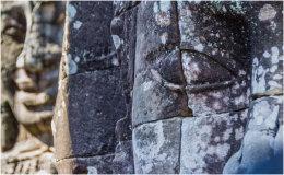 Stone Face, Angkor Thom Temple, Cambodia