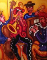 Mayhem in a Jazz Bar. Private Collector SOLD
