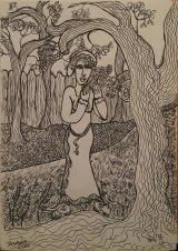 Woman in a garden.