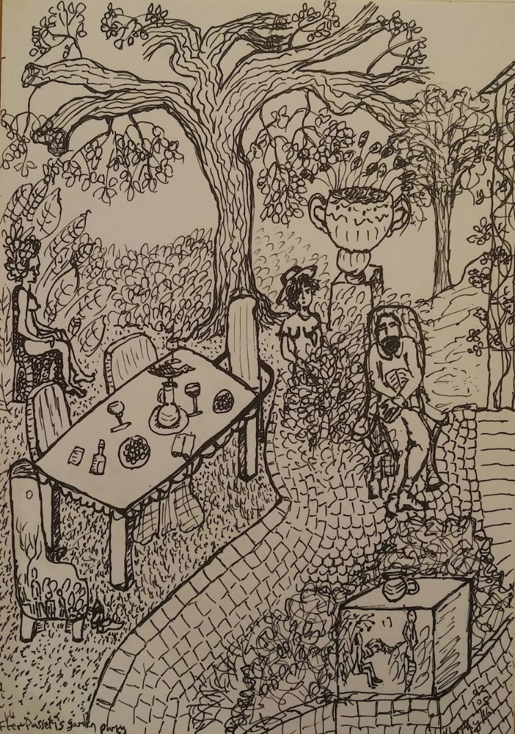 Passeri's garden party sketch
