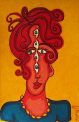 Crossed eyed lady