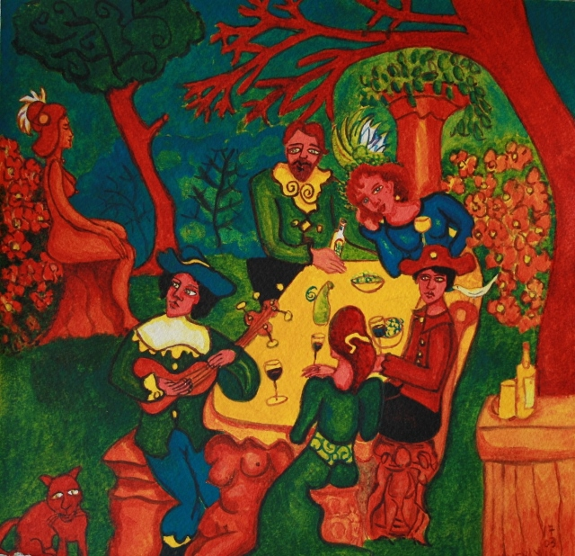 The Garden Party for Passeri. Sold to private collector.
