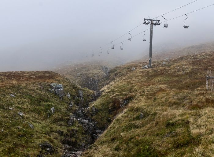 Chairlift and gorge