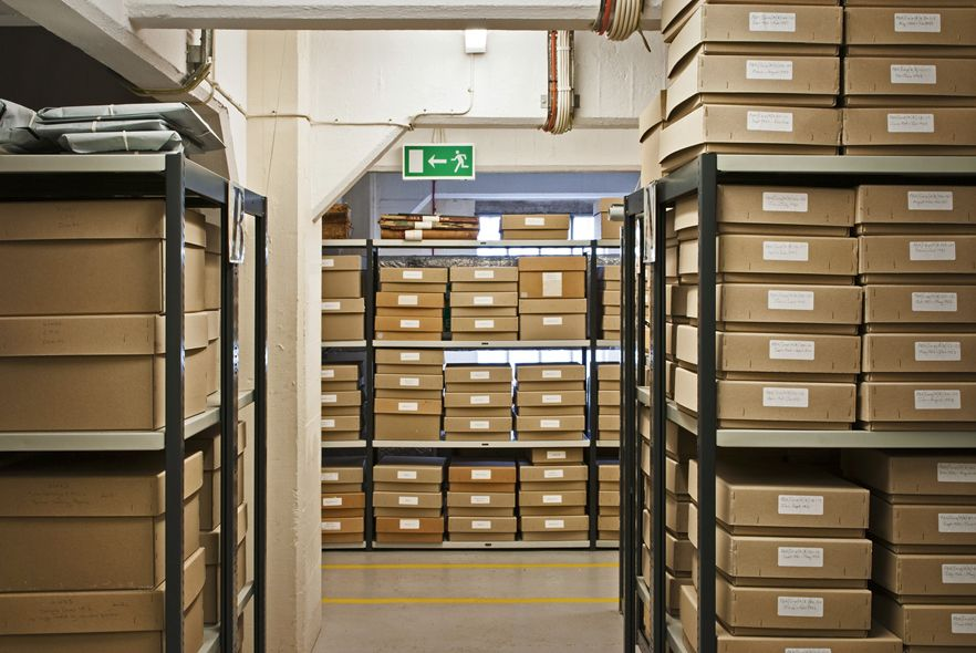 The Bristol Record Office, Racks of boxes