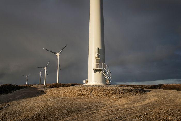 Turbine and storm Yell