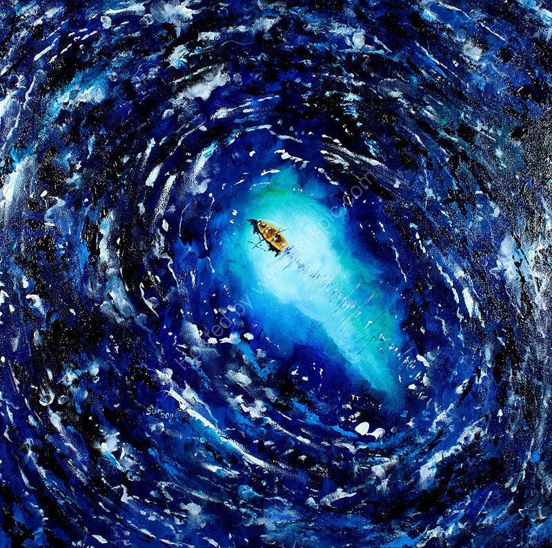 Jesus calms the storm (second version)