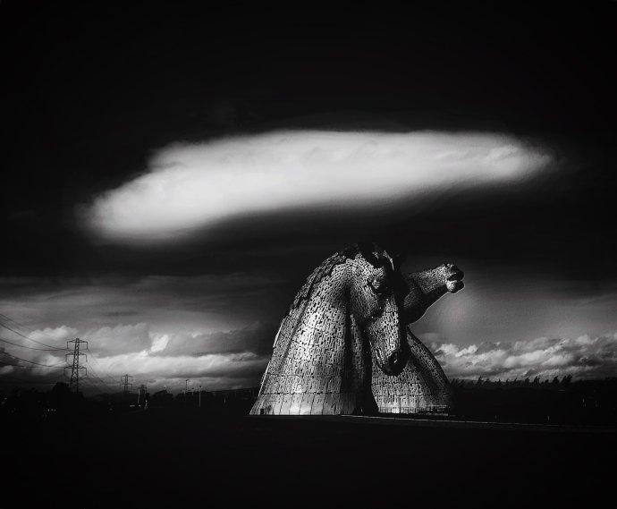 Cloud over The Kelpies, Falkirk