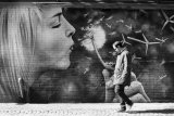 Breath of air... Glasgow mural on a Spring morning.