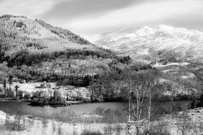 Loch Achray looking toward Ben Ledi