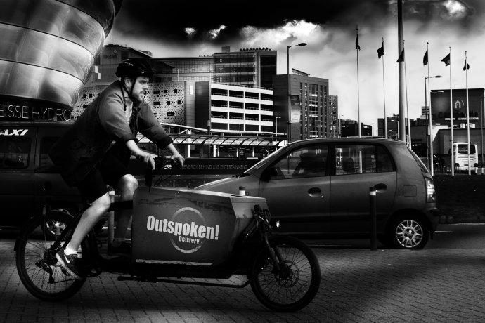 Finnieston Quay Cyclist, Glasgow