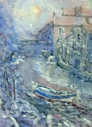 SNOWSTORM IN THE BECK, STAITHES