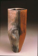 "Smoke Fired, Textured Slips,Terra Sigilata, Canada 1999, 14"""