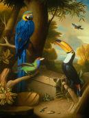 'Exotic Bird Garden No.1', Oil on Canvas, 36x28
