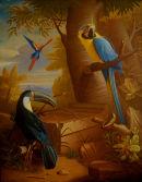 'Exotic Bird Garden No.2', Oil on Canvas, 36