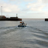 Leaving Lowestoft Harbour