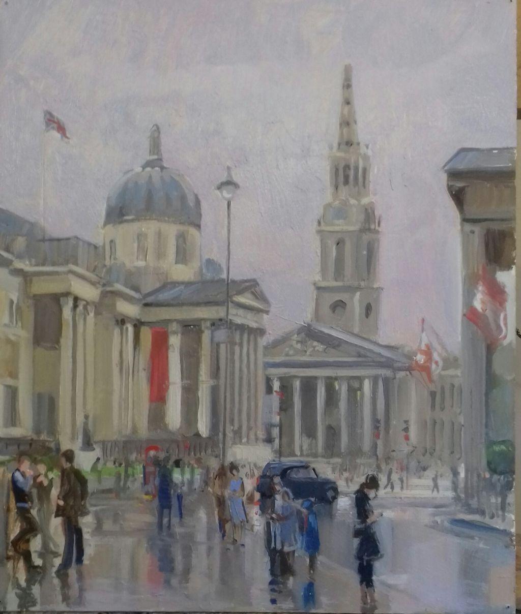 The Red Banner, Trafalgar Square.
