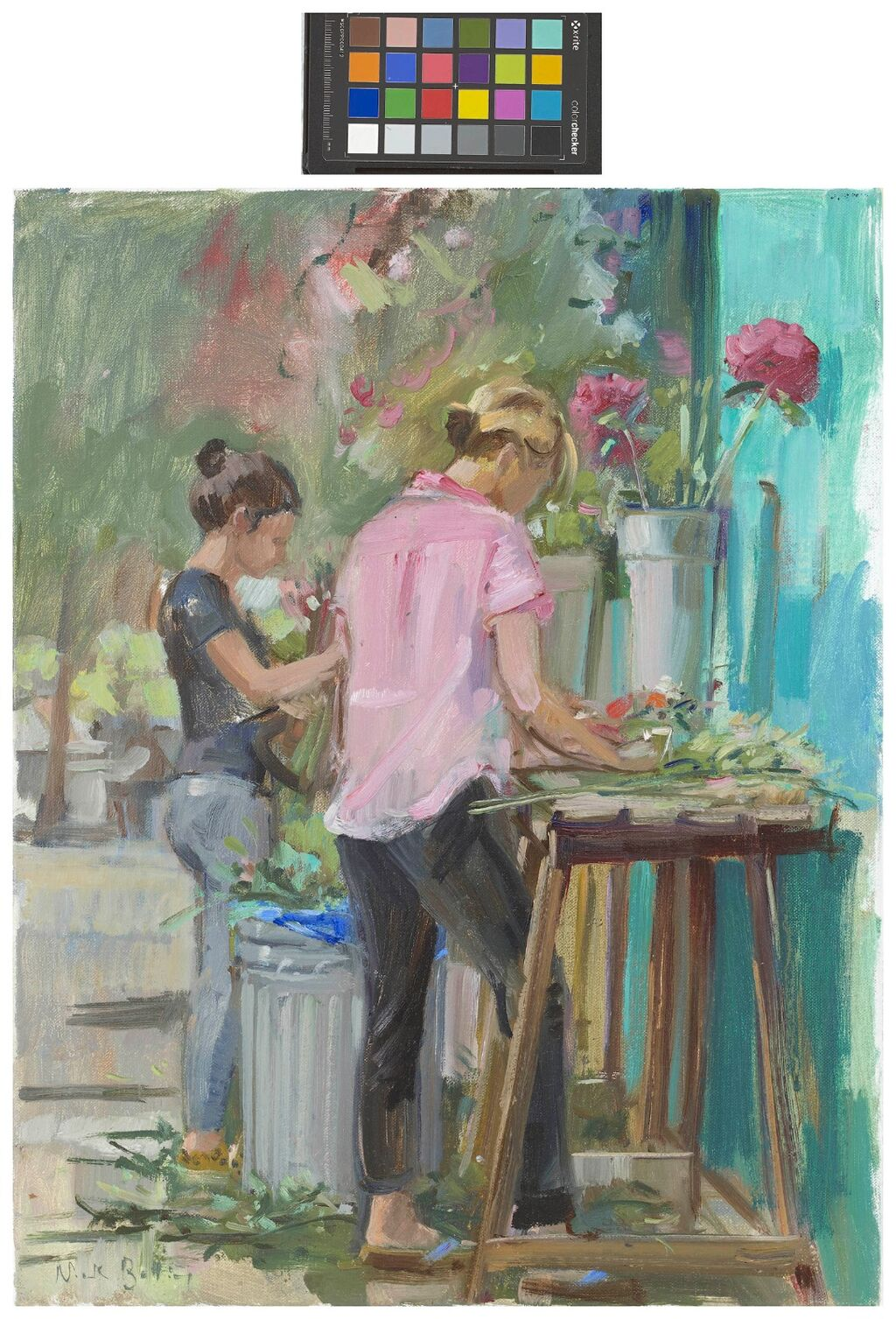 London in summer, the florists I. (SOLD)