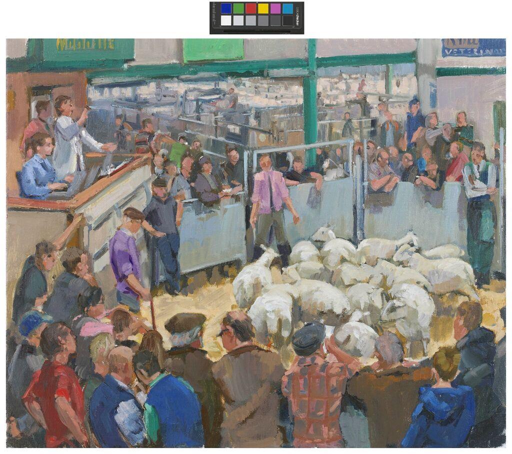 THE SHEEP AUCTION, COCKERMOUTH.