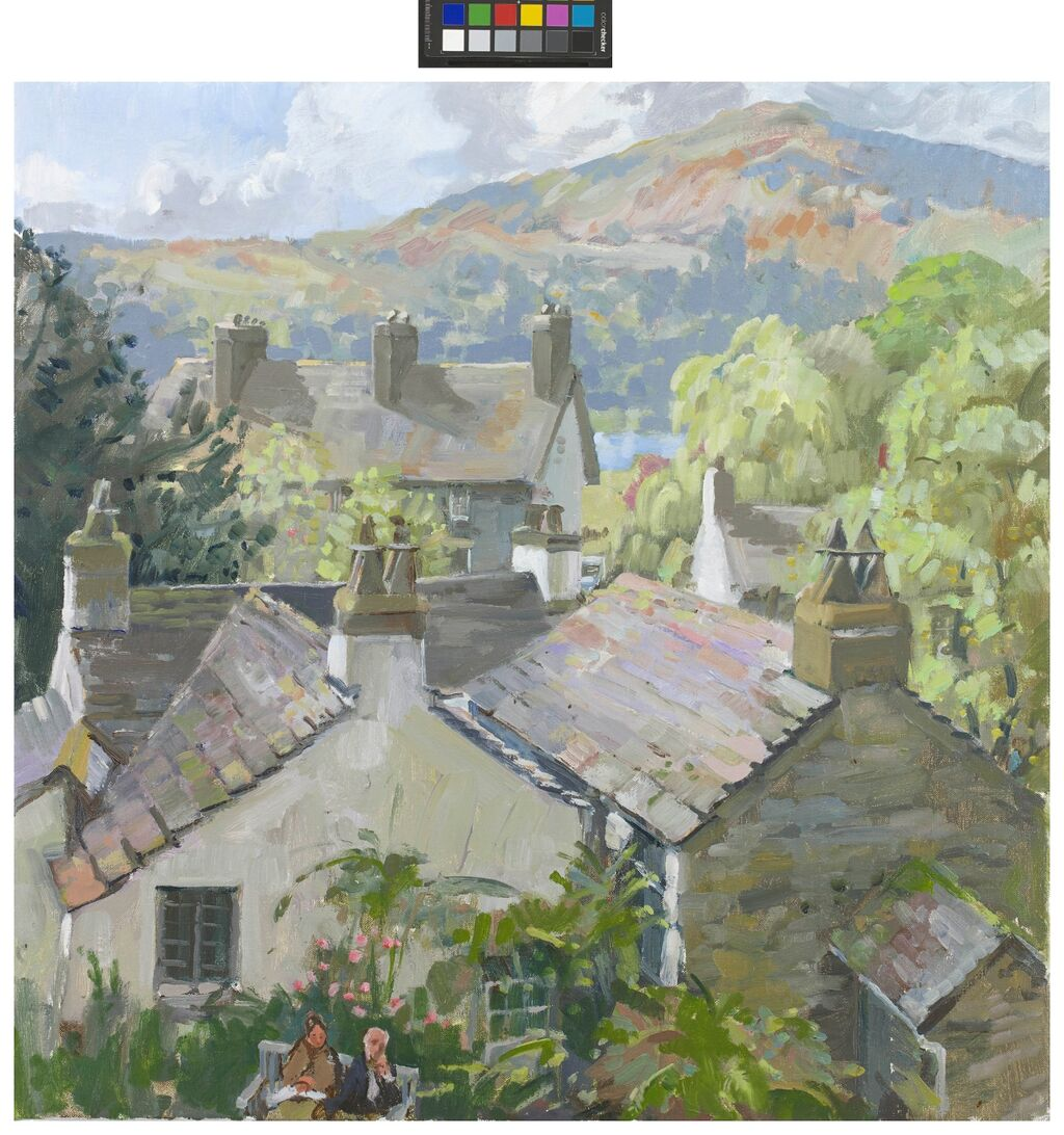 WORDSWORTH'S HOUSE, (DOVE COTTAGE) FROM ITS GARDEN.