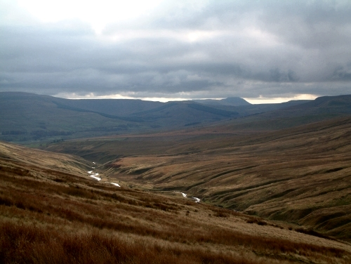 Fossdale Gill with Ingleborough in the distance