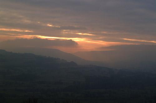 Sunset over Bishopdale