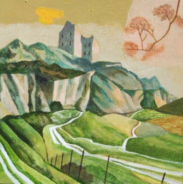 Gothick Landscape 23x23cm (2020)
