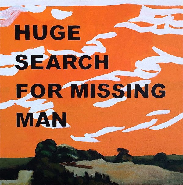 Missing Man (Disaster Series) 44x44cm (2018)