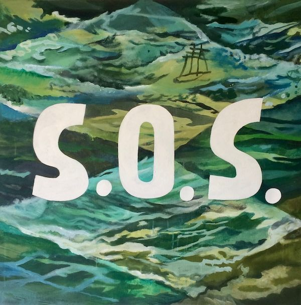 SOS (Disaster Series) 80x80cm (2018)