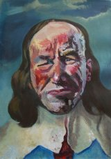 Self-Portrait as Charles I  26x38cm  (2016)