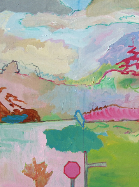 Found Landscape with Signs 76x101cm (2013)