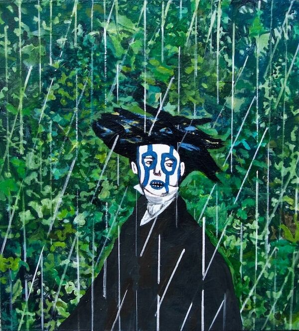 The Rain King with Headdress 75x75cm (2020)